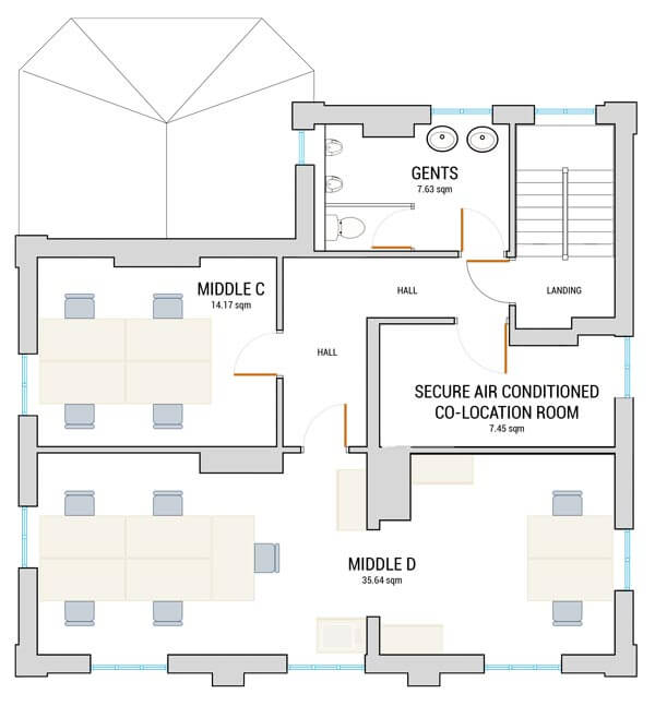 Norwich New Patricks Yard First Floor office space floorplan