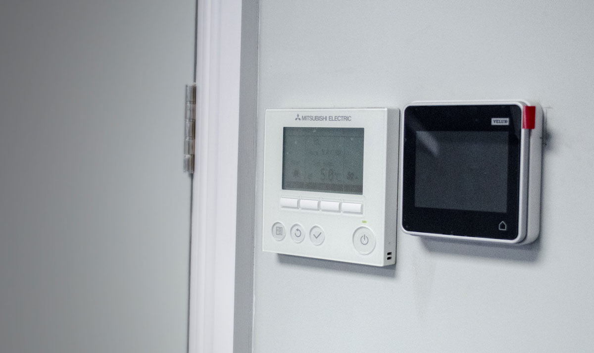 New Patricks Yard Temperature Control Panel and velux windows controls - Norwich office space