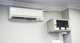 New Patricks Yard Comms box and air conditioning in every office